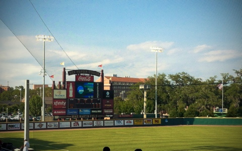 Mike Martin Field at Dick Howser Stadium Scoreboard