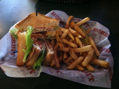 Hobbit American Grill Turkey Bacon Club Sandwich