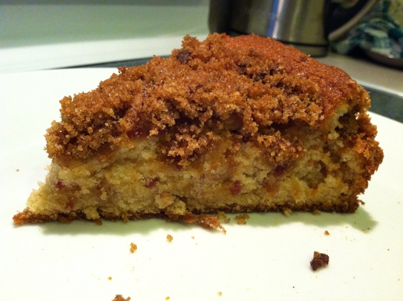 A piece of Maple Bacon Coffee Cake