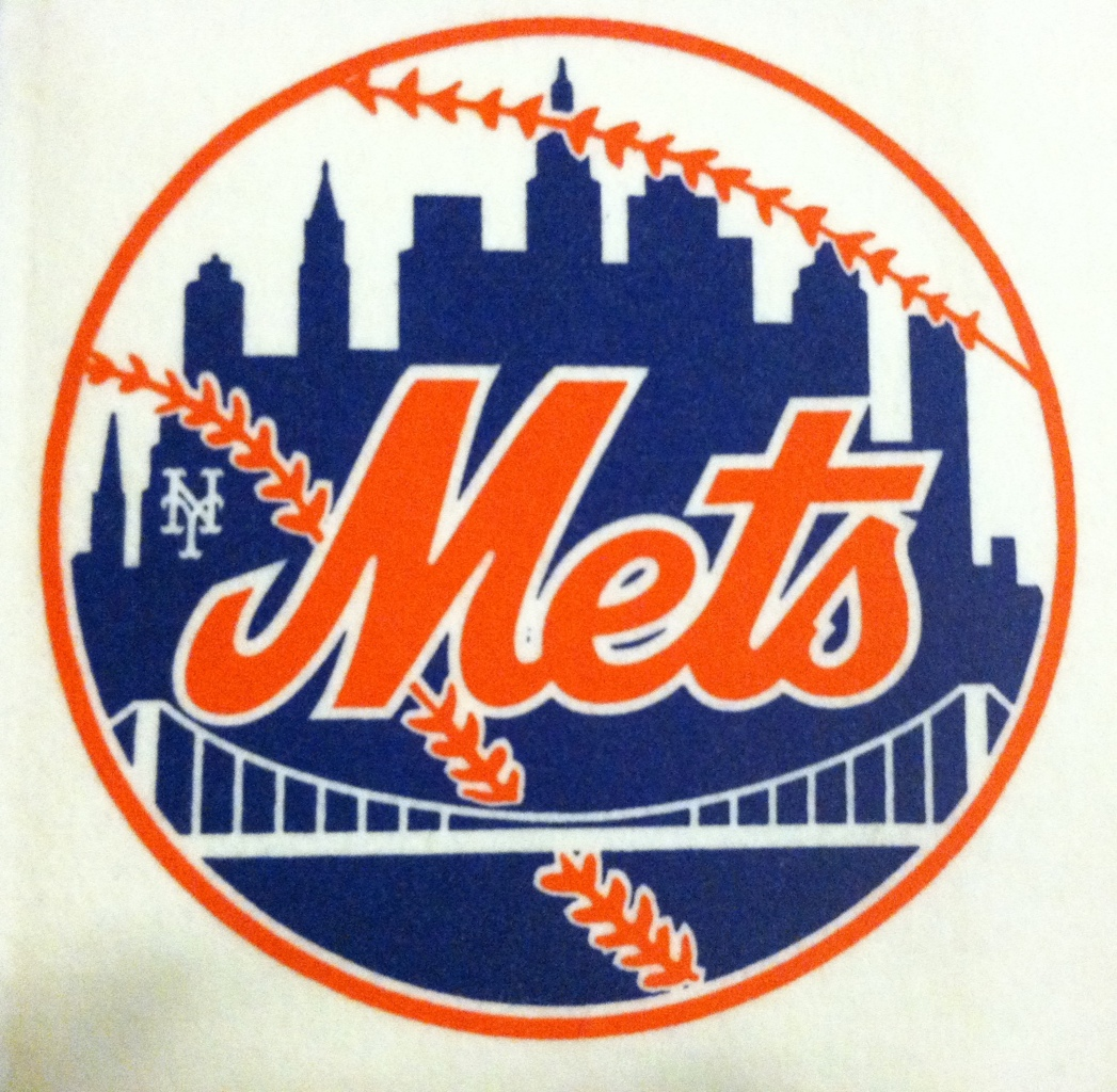 New York Mets 1969 Mitchell and Ness Pennant Logo