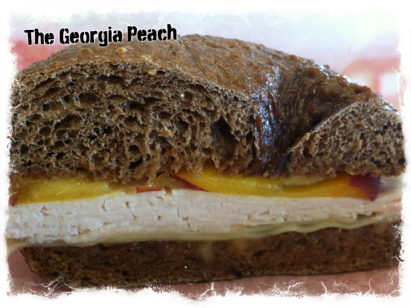 The Georgia Peach Sandwich at Bagelheads