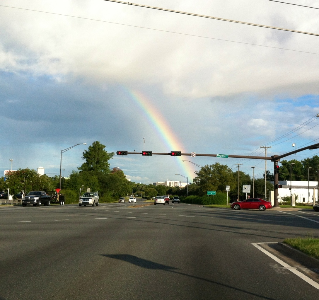 Rainbow over Apalachee Parkway in Tallahassee, FL