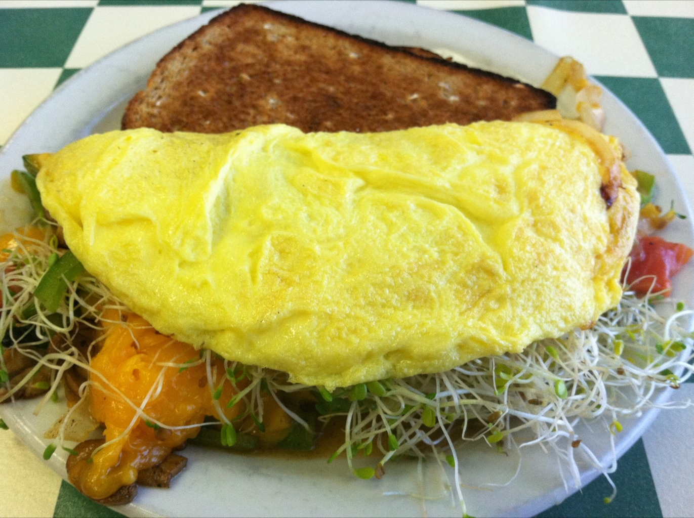 Veggie Omelette from Uptown Cafe