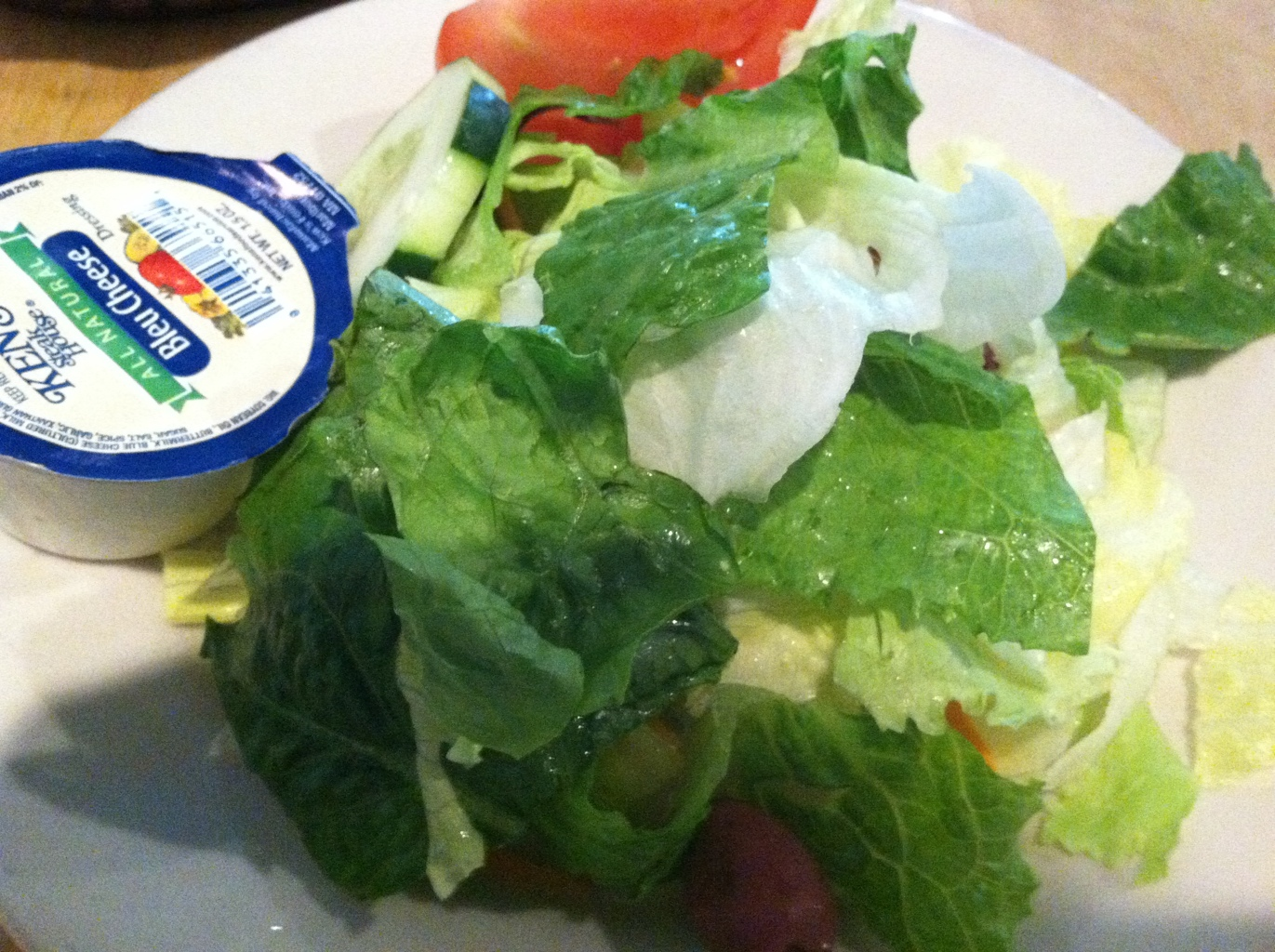 House Salad with Blue Cheese Dressing at Village Pizza and Pasta