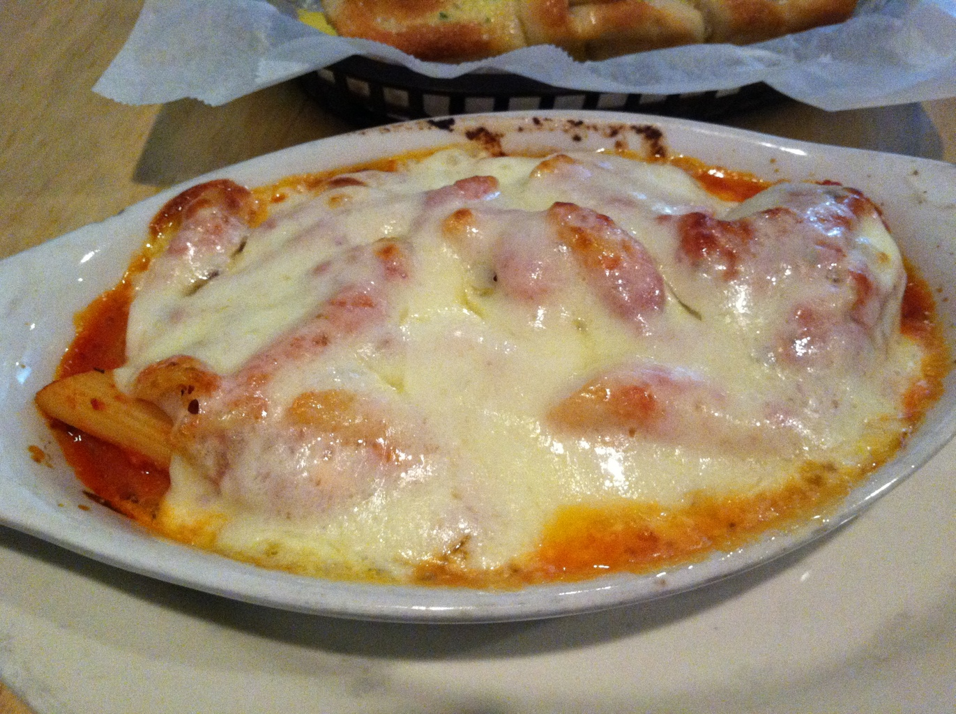 Baked Ziti at Village Pizza and Pasta