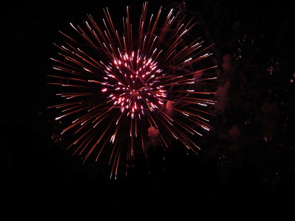 Fireworks from Tom Brown Park in Tallahassee, FL