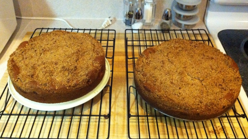 Two of the finest Bill's Killer Coffee Cakes
