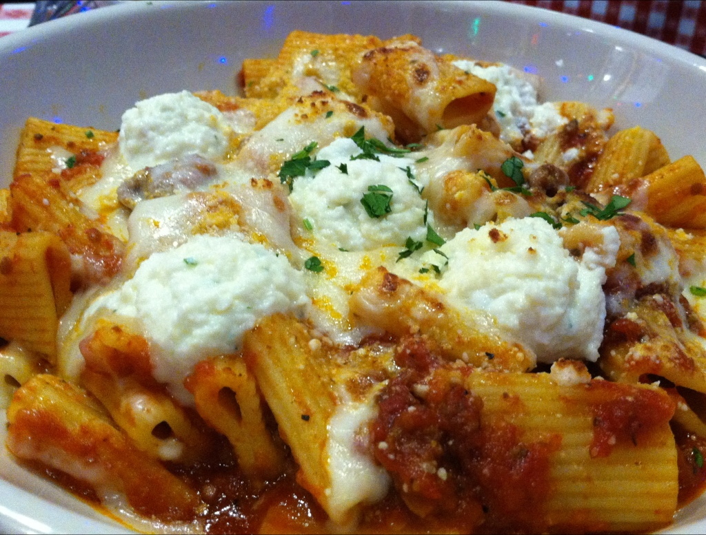 Baked Rigatoni at Buca di Beppo in Tallahassee, FL