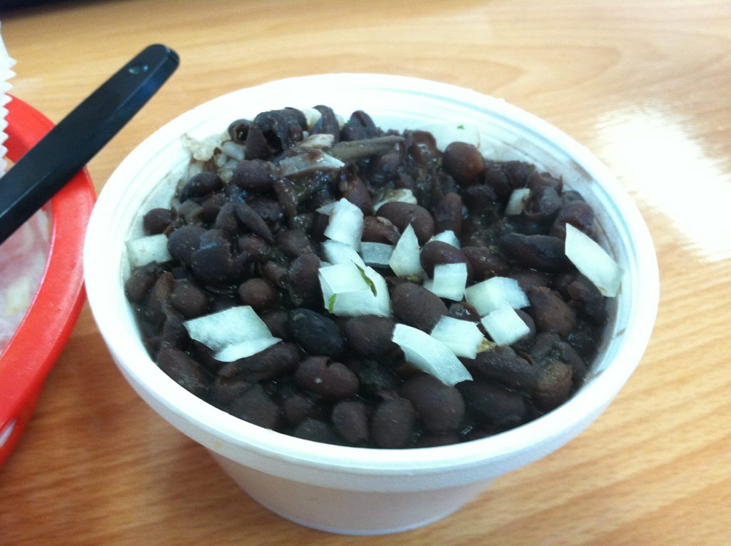 Black Beans and Rice at The Cuban Grill in Tallahassee, FL
