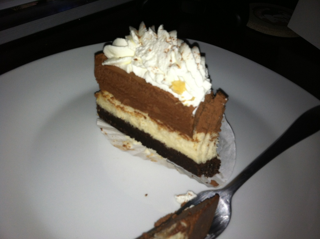 Double Chocolate Cheesecake at Treva's