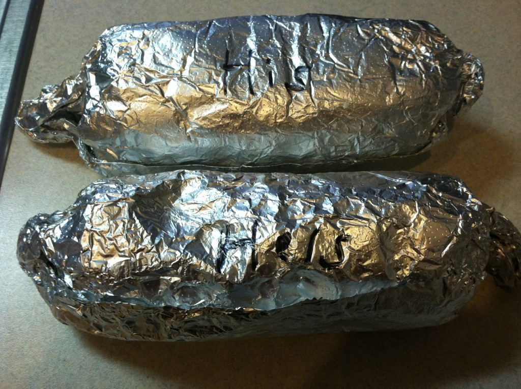 His and Hers Burritos from Moe's