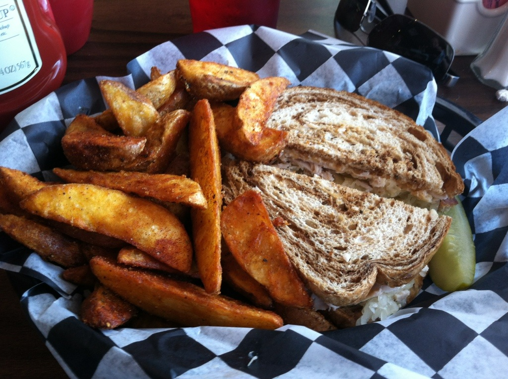 The Bada Bean - Georgia Reuben and Steak Fries