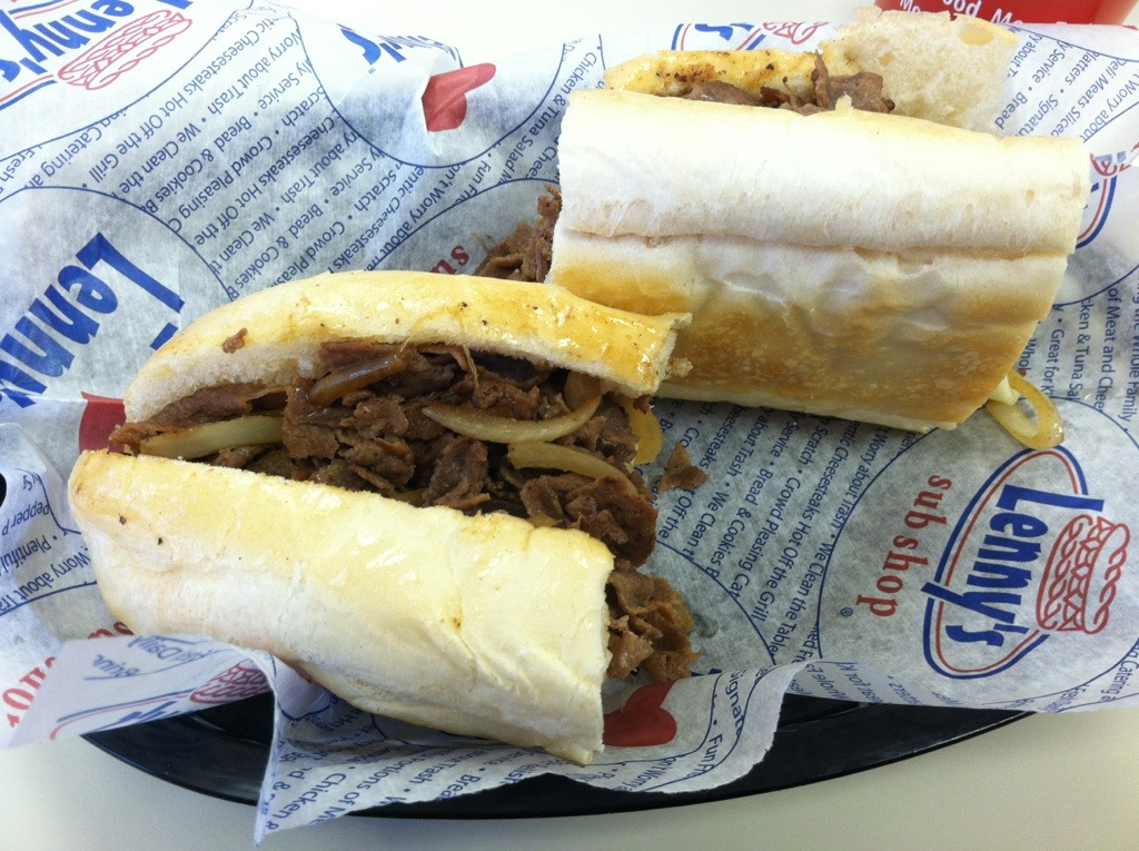 Philly Cheesesteak at Lenny's Sub Shop