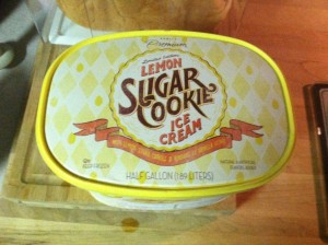 Lemon Sugar Cookie Ice Cream by Publix