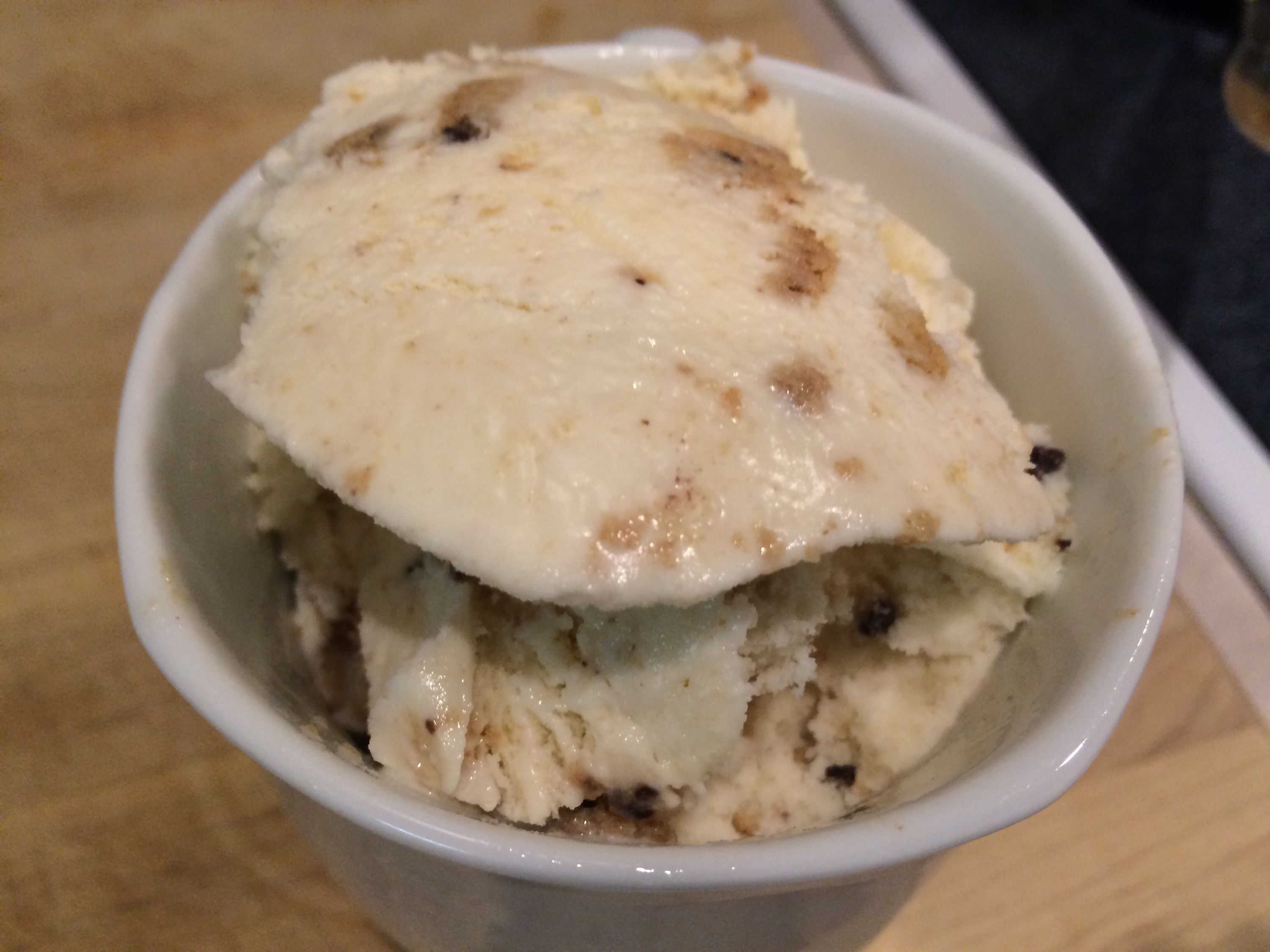 Blue Bell Milk And Cookies Ice Cream in a mug
